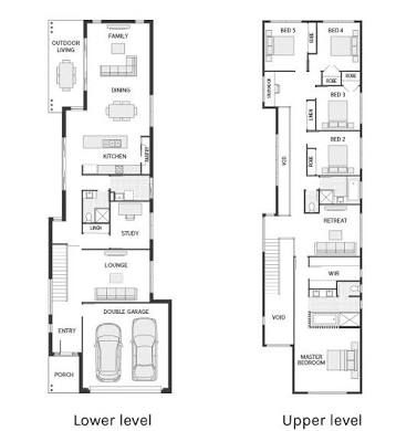 Image Result For Two Story Houses Small Block Narrow House Plans Narrow House Designs Narrow Lot House Plans