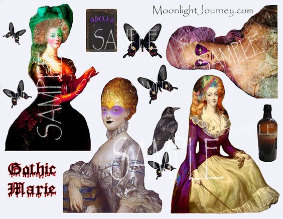 Gothic Marie Collage Sheet