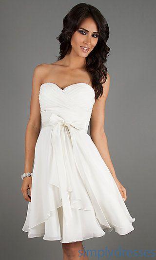 Mori Lee Strapless Short Dress Homecoming Dress - Simply Dresses ...