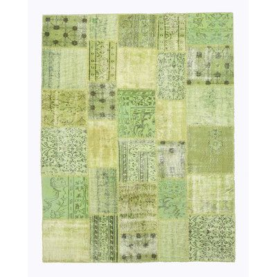 Eastern Rugs Hand-Knotted Green Area Rug
