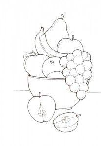 Fruit Basket Coloring Pages Fruit Basket Coloring Pages
