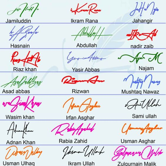 Different Names Signature Collection Likhaari Signature Signature Ideas Signature Creator Name Signature