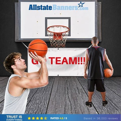 Cheer your team or announce important game on a #vinylbanner! You can upload your own photo, design your graphic or simply start from a template! Get your #banners fast fast fast!!!  https://orders.allstatebanners.com/products/vinyl-banners