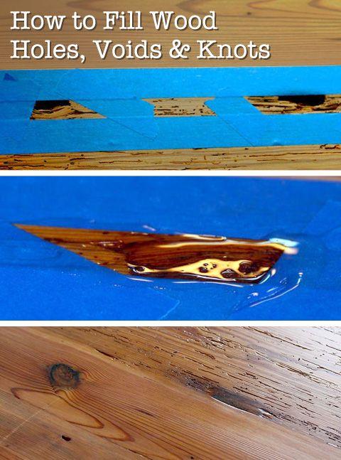 how to fix burn holes in wood floor