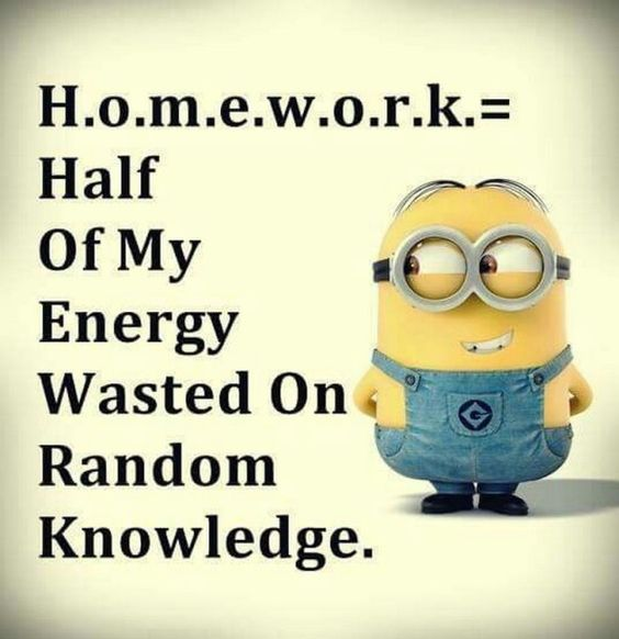 Funny Minion Quotes About School: Jokes, Perfect Definition And Homework On Pinterest