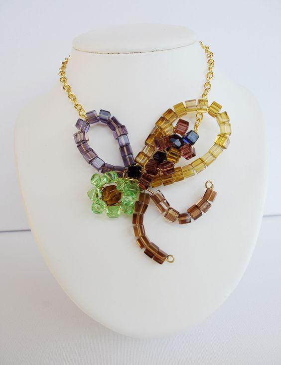 Collar Mariposa #necklace #cristal