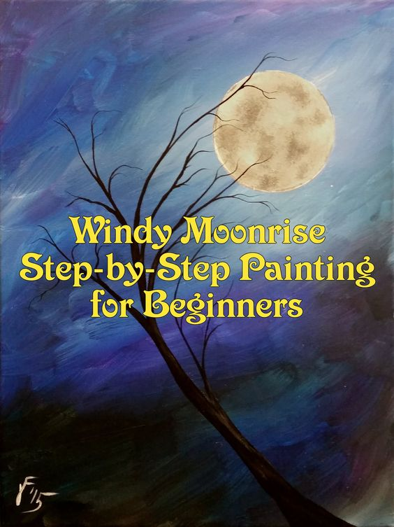 Paintings on canvas acrylic paintings and step by step on for Canvas painting tutorial for beginners