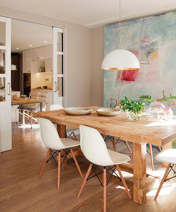Piso diferente sala de jantar e cozinha! Perfeita, amei!