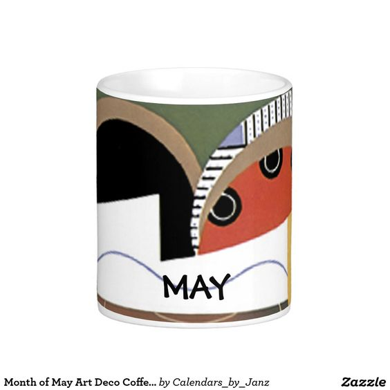 Month of May Art Deco Coffee Mug by Janz