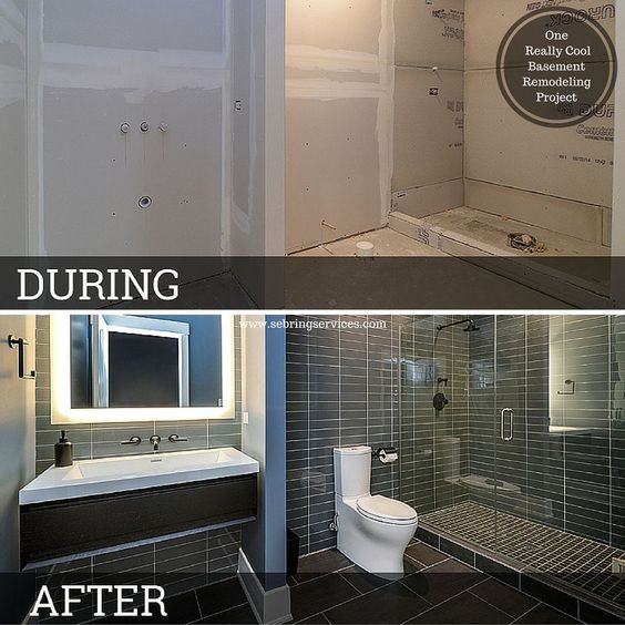 Before & After One Really Cool Basement Remodeling Project Fascinating Bathroom Remodeling Naperville Review