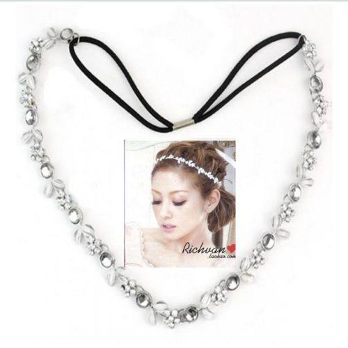 Frauen Silber Kristall Strass Blatt Blumen Stirnband Haarband Braut Hochzeit in                                                                                                  aus Haar Schmuck auf AliExpress.com | Alibaba Group