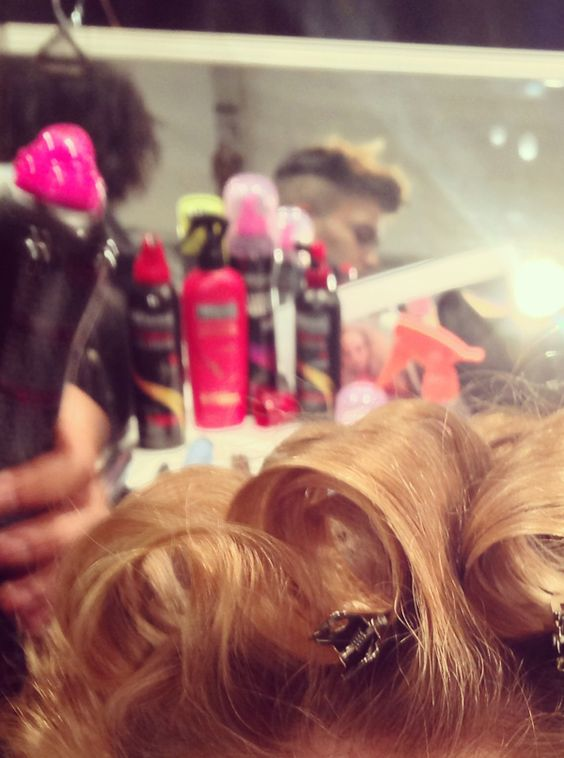 24 Hour Body Finishing Spray sets curls backstage from Jenny Packham show! #TRESmbfw #mbfw