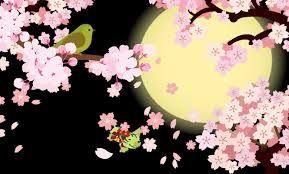 「イラスト 月 桜」の画像検索結果