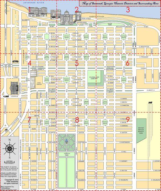 Savannah :: Historic District :: Points of Interest Map