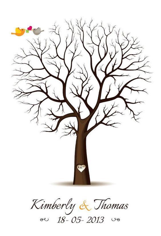 Fingerprint+Guest+Book+Template fingerprint tree template free - guest book template