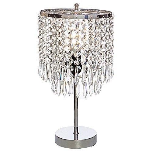 Popilion Elegant Decorative Chrome Living Room Bedside Crystal