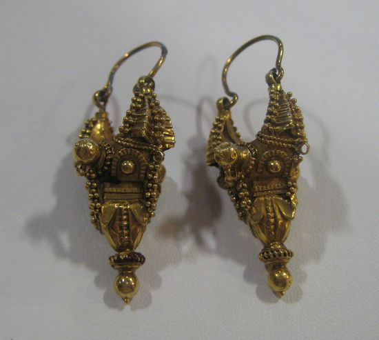 Ancient Safavid Gold Earrings