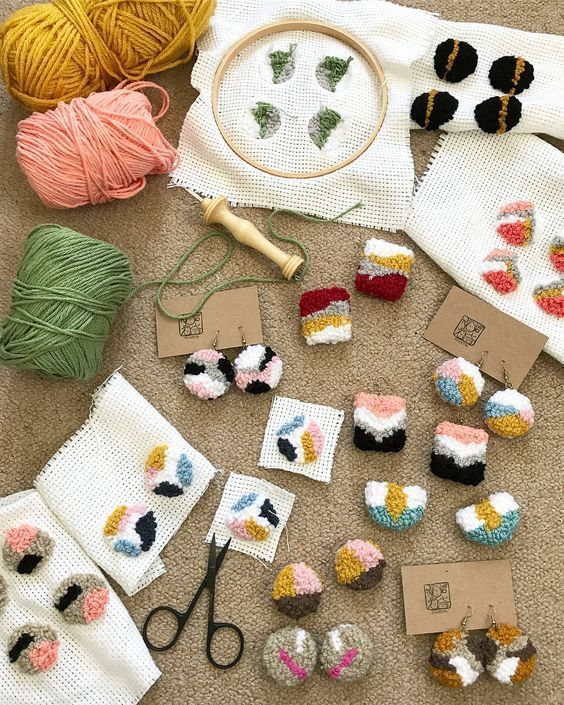 """Punch Needle etc Kits EMBROIDERY HOOP ~ White 6/"""" For  Embroidery Cross Stitch"""