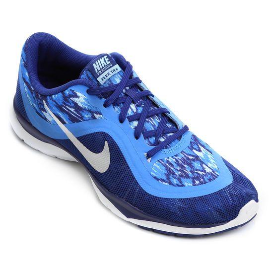 Tênis Nike Flex Trainer 6 Print - Marinho+Azul