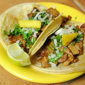 Traditional, homemade chicken tacos