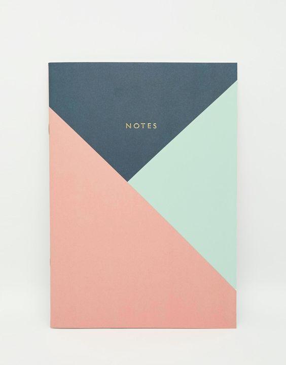 Notizbuch von Ohh Deer Paperback geometrisches Muster goldener Foliendruck linierte Seiten H: 26 cm/10 Zoll B: 18 cm/7 Zoll T: 3 cm/1 Zoll