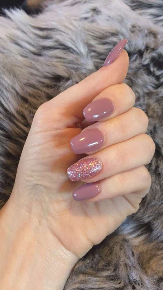 Acrylic Gel Nails In A Short Coffin Shape Yelp Short Gel Nails Nails Fall Acrylic Nails