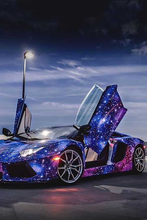 Galaxy Paint- Lamborghini!? This is crazy awesome! :)