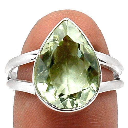 Green-Amethyst-Prasiolite-925-Sterling-Silver-Ring-Jewelry-SR124070: