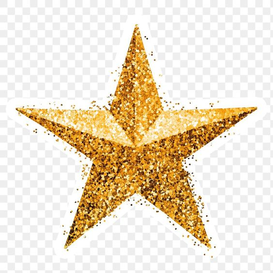 Glitter Gold Star Sticker With White Border Premium Image By Rawpixel Com Ployploy Gold Star Stickers Gold Stars Star Stickers