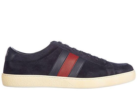 Gucci Herrenschuhe Herren Wildleder Sneakers Schuhe softy tek blu EU 40 337222 CKKA0 4064