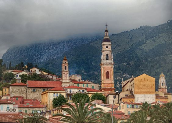 Menton cloudly day - Pinned by Mak Khalaf City and Architecture FranceMentoncloudsmountaunsProvens by Allora