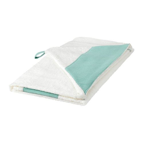Tillgiven Baby Towel With Hood White Turquoise 24x49 Baby