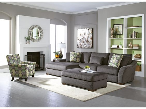 Oasis Grey 2-Pc Sectional - American Signature Furniture