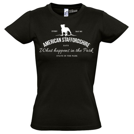 T-Shirt Women Hunde AMERICAN STAFFORDSHIRE Vintage Logo Siviwonder bis XXL/42