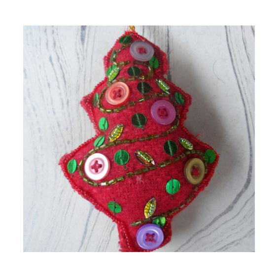 Decoration - felt button christmas tree  eco brand made in Bangladesh