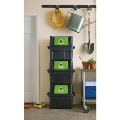 Rubbermaid 20.5 gal. Stackable Recycling Bin-1803652 - The Home Depot