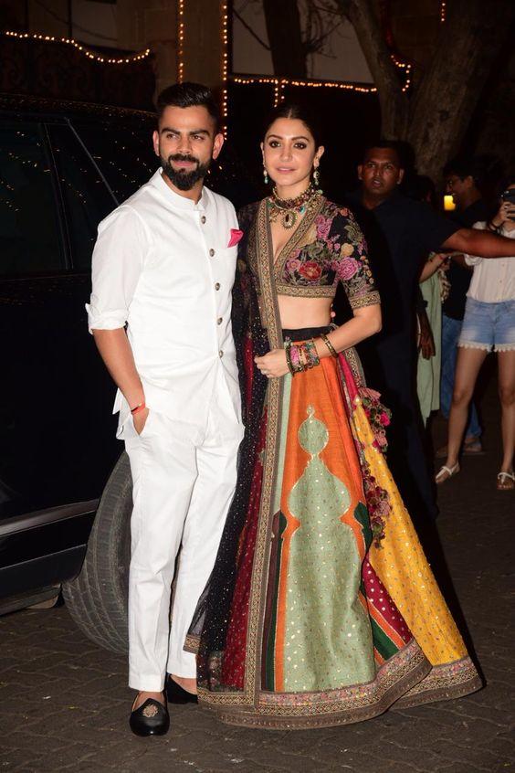 Anushka And Virat Set Ethnic Couple Goals! – South India Fashion