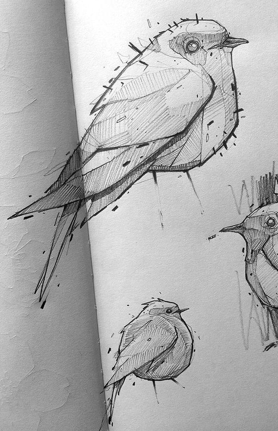 Blackbook pieces... #01 by Monsta , Lyon, France | Drawing | Fine Arts |  Illustration | Draw | Desenho | Ilustração | Bird |
