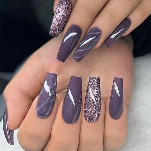 Image Result For Trendy Nail Designs With Images Purple