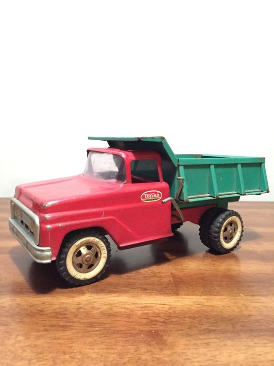Pressed Steel Original Tonka Dump Truck, Tin. Nice Condition. #Tonka