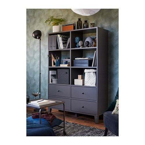 Bryggja Storage Unit Dark Gray 47 1 4x68 1 8 Ikea Ikea Affordable Furniture Storage Unit