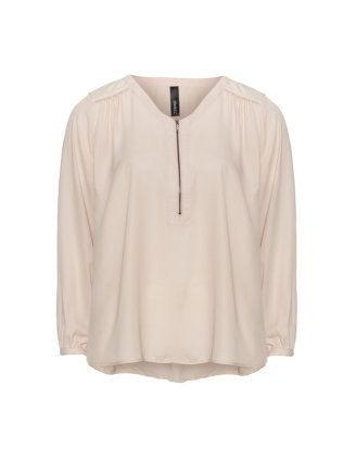 Sheer sequin blouse in Cream designed by Yppig to find in Category Blouses at navabi.de