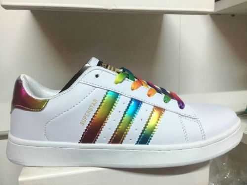 adidas superstar rainbow glittee