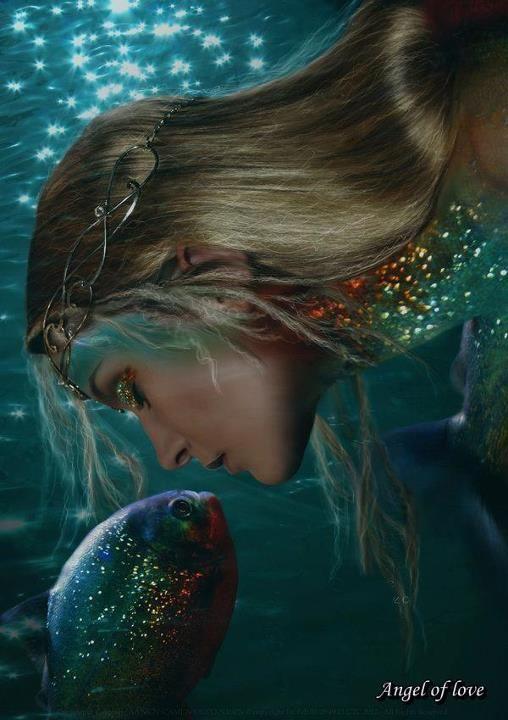 Under water:
