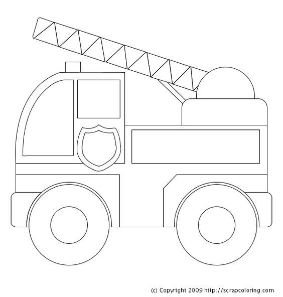 Image detail for -preschool fire truck coloring pages ...