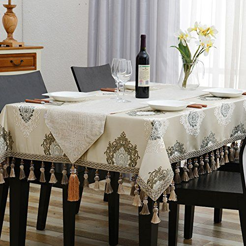 European Style Coffee Tablecloth Rectangular Square Table Cloth Furniture Cover Cloth A 130180cm 51x71inch Dinning Table Table Cloth Kitchen Decor Trends