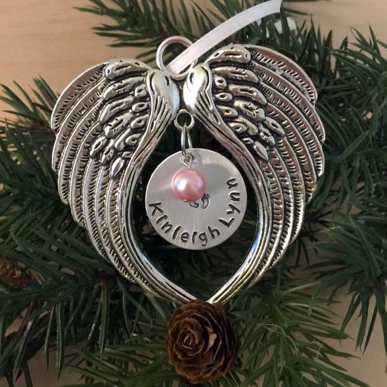 Christmas Ornaments For Lost Loved Ones Part - 26: Memorial Baby Ornament Miscarriage Ornament By SoulCysterCreations