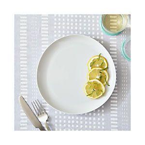 Como White Flat Plate $7.97