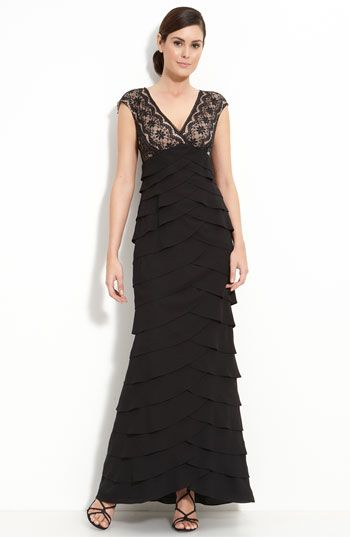 Adrianna Papell Lace & Chiffon Gown - $188.00