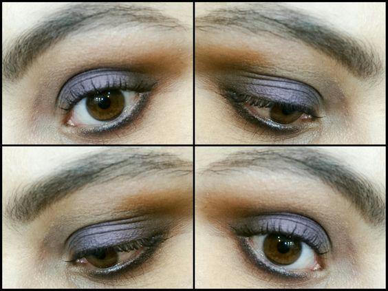 Maquiagem com roxo